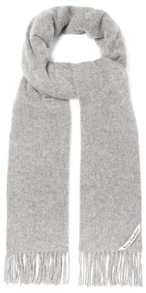 Acne Studios Canada Wool Scarf - Light Grey
