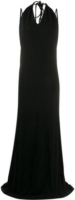 DSQUARED2 backless halterneck maxi dress