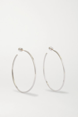 "Jennifer Fisher 2"" Square Thread Silver-plated Hoop Earrings - one size"