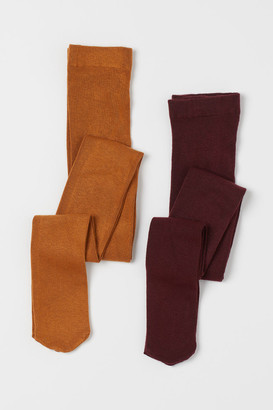 H&M H&M+ 2-pack Tights - Red