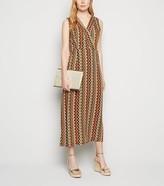 New Look Mela Zig Zag Midi Wrap Dress