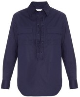 Equipment Knox lace-up cotton shirt