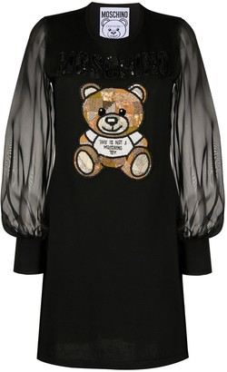 Moschino Teddy Bear embroidered dress
