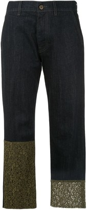 Mr & Mrs Italy Lace-Trimmed Jeans
