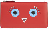 Fendi Studded Leather Pouch - Red