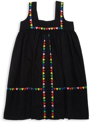 Stella McCartney Little Girl's & Girl's Heart-Trim Shift Dress