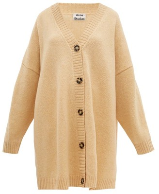 Acne Studios Kirstie Dropped-shoulder Wool Cardigan - Womens - Beige