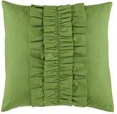 Ruffle Throw Pillow (Green)