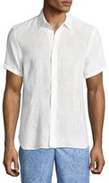 Orlebar Brown Meden Tailored-Fit Short-Sleeve Linen Shirt, White