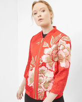 Ted Baker Regal Romance bomber jacket