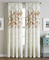 """CHF Reversible Watercolor Floral-Print 50"""" x 84"""" Rod Pocket Window Panel Bedding"""