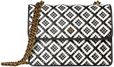 Tory Burch Robinson Woven-Leather Convertible Shoulder