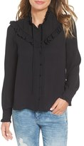 Leith Women's Tie Neck Ruffle Top