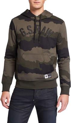G Star G-Star Men's Camo-Print Logo Hoodie Sweatshirt