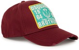 Dsquared2 Burgundy Cotton Twill Cap