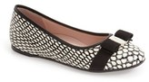 Salvatore Ferragamo Toddler Girl's 'Mini Varina' Bow Flat