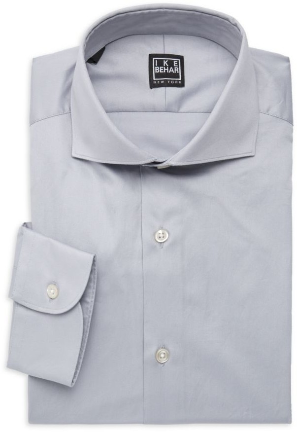 Ike Behar Frederick Contemporary-Fit Cotton Dress Shirt