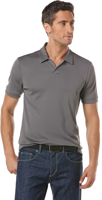 Perry Ellis Short Sleeve Open Collar Polo