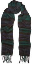Johnstons of Elgin Fringed Tartan Cashmere Scarf - one size