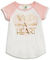 Lily Bleu Girls' Wild at Heart Raglan Tee - Sizes 2-6X