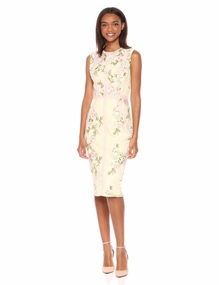 Dress the Population Women's Penelope Sleeveless Lace Sheath Dress