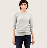 LOFT Lace Trim 3/4 Sleeve Sweater