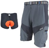 ARSUXEO Men's Short Attack Loose Breathable Shorts for Cycling Hiking Camping with Belt&Padded