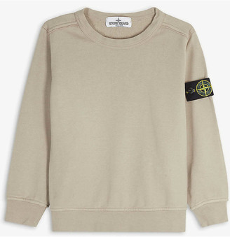 Stone Island Compass logo patch cotton sweatshirt 4-14 years