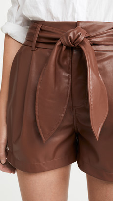 David Lerner Lexi Pleated Belted Shorts