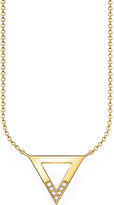 Thomas Sabo Triangle 18ct yellow gold-plated diamond necklace