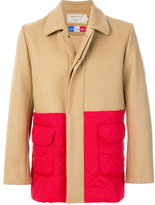 MAISON KITSUNÉ colour block coat