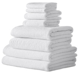 Makroteks Classic Turkish Towels Arsenal 8 Piece Turkish Cotton Towel Set with 2 Large Bath Sheets Included Bedding