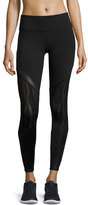 Alo Yoga Vitality Lace-Panel Sport Leggings, Black