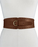 INC International Concepts Whipstitch Tapered Stretch Belt, Only at Macy's