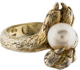Delfina Delettrez Pearl & Paw Ring