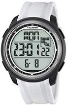 Calypso Unisex Digital Watch with LCD Dial Digital Display and White Plastic Strap K5704/5