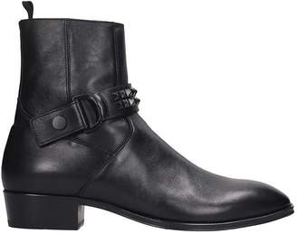 Represent REPRESENT Western Boot High Heels Ankle Boots In Black Suede
