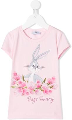 MonnaLisa Bugs Bunny embellished T-shirt