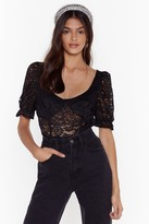 Nasty Gal Womens It's All Cup to You Lace Bodysuit - black - 4