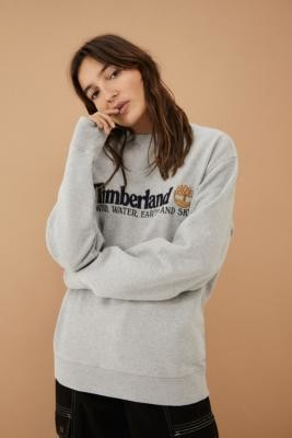 Timberland UO Exclusive Grey Wind, Water, Earth and Sky Sweatshirt - Grey S at Urban Outfitters