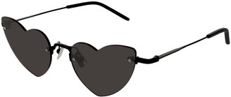 Saint Laurent Loulou Rimless Heart Sunglasses