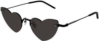 Saint Laurent Loulou Rimless Heart Sunglasses
