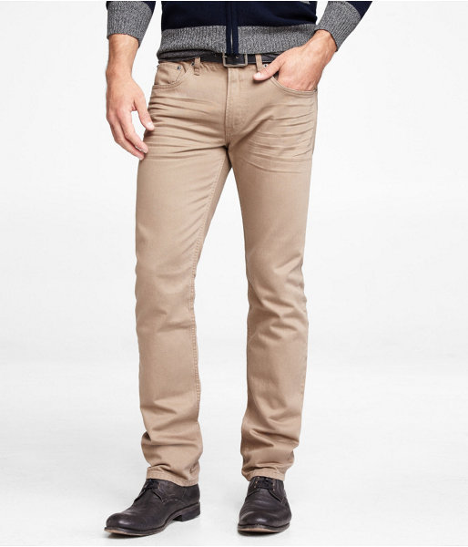 Express Rocco Colored Slim Fit Skinny Leg Jean - Tan