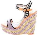 Sophia Webster Suede Wedge Sandals