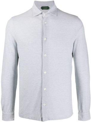 Zanone Stripe-Print Long-Sleeved Shirt