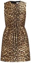 RED Valentino Leopard-jacquard dress