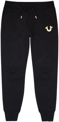 True Religion Black cotton-blend sweatpants