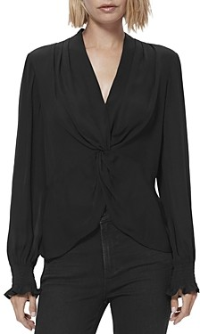 Paige Lorienne Silk Twisted Top