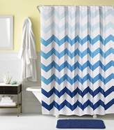 Hogoo Shower Curtain Polyester with 12pcs Plastic Hooks (Treated to Resist Deterioration by Mildew) 72 x 78 inches,Blue Waves