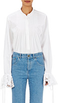 Chloé Women's Cutwork-Embroidered Poplin Top-WHITE